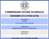 Click on this image to view the Commission Schedule
